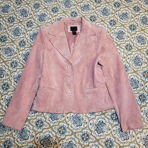 JohnPaulRichard pink leather blazer size Medium